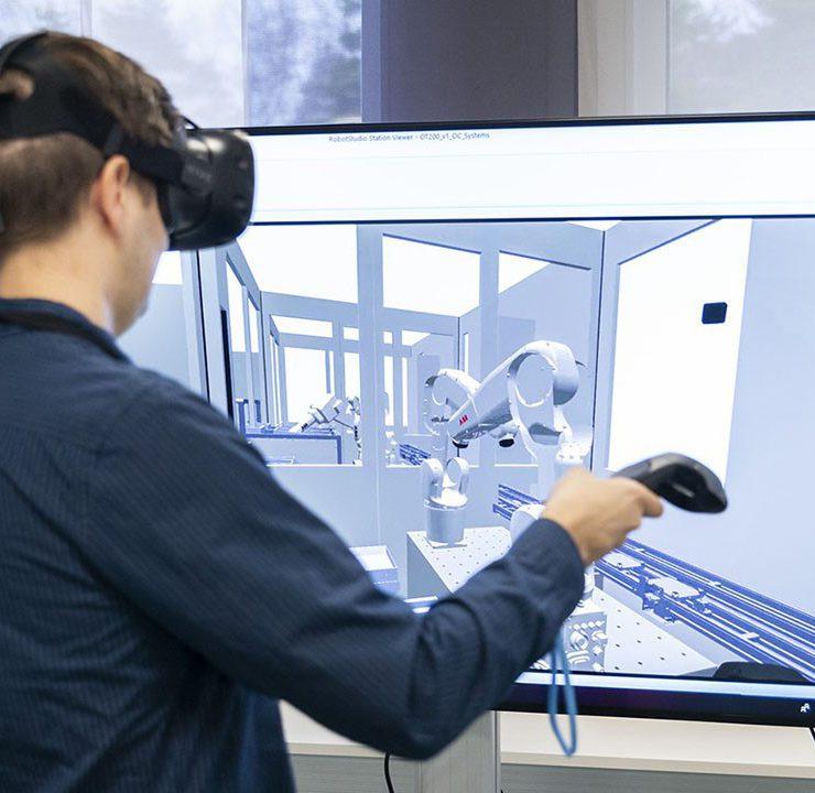 Man Using VR Device