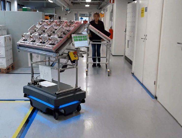 Robot On Factory Floor
