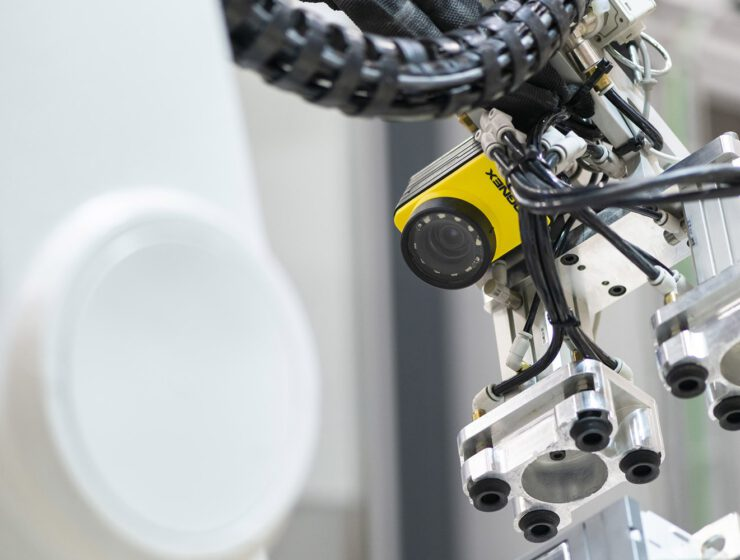 Visual Inspection Camera In The ABB Vaasa Factory.